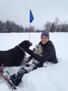 Dog-friendly snowshoeing and cross country skiing Adirondacks Tupper Lake