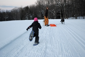 Adirondack snowshoeing with kids