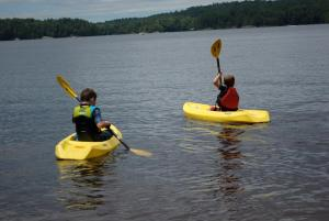 Kid's kayaks vacation rental adirondacks