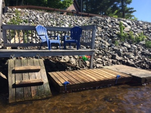 Dock Tupper Lake Vacation Rental